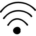 WiFiマーク、落書き風のアイコン