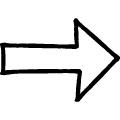 黒い線で描かれた手書きの右向き矢印