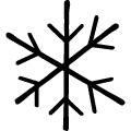 手書き風の雪の結晶のイラスト、jpg画像