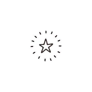 光っている星