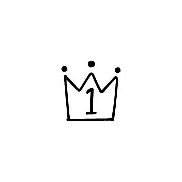 王冠の形のランキングアイコン1