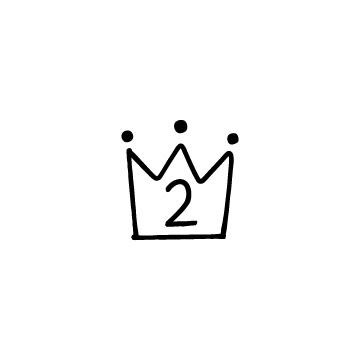 王冠の形のランキングアイコン2