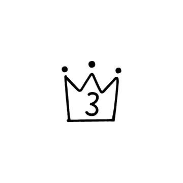 王冠の形のランキングアイコン3
