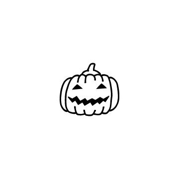 ハロウィンのかぼちゃのアイコン
