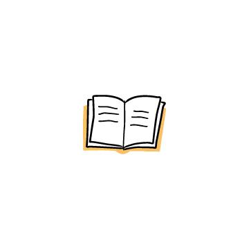 オレンジ色の開いている本1