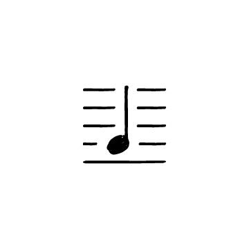 五線譜と音符1