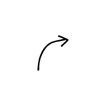 右にカーブしている矢印