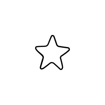 シンプルな星のフリーアイコンのアイキャッチ用画像