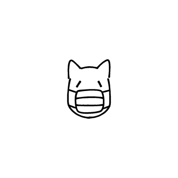 マスクをしている犬のアイコン