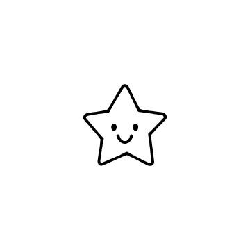 笑顔の星のアイコン
