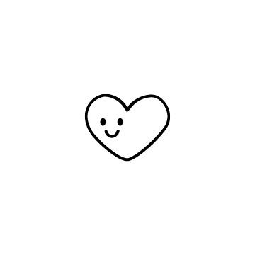 笑顔のハートのアイコン