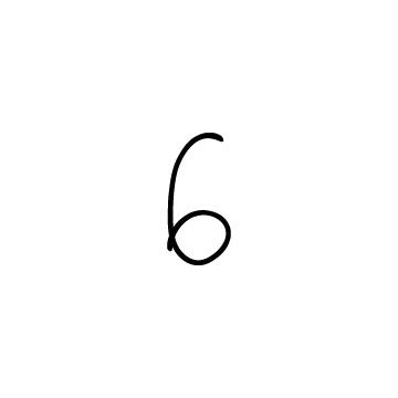 手書きの数字の6のアイコン