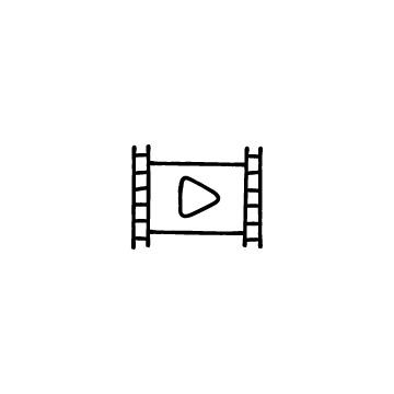 フィルムと再生マークのアイコンのアイキャッチ用画像
