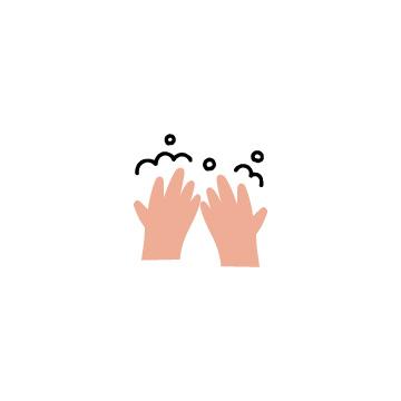 カラーの手洗いのアイコンのアイキャッチ用画像