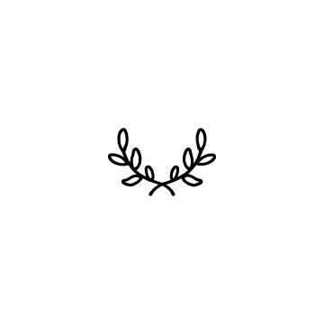 月桂樹のリースのアイコン