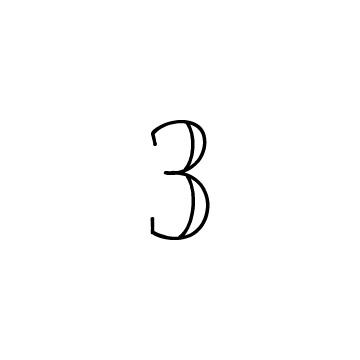 数字の3のアイコン
