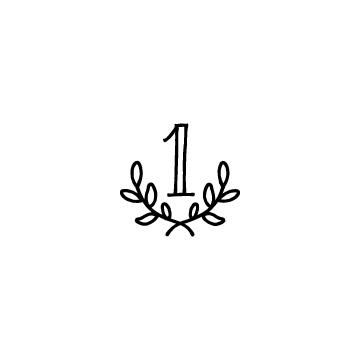 ランキングのアイコン(ローレルリース・1位)
