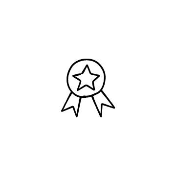 星マークのメダルのアイコン