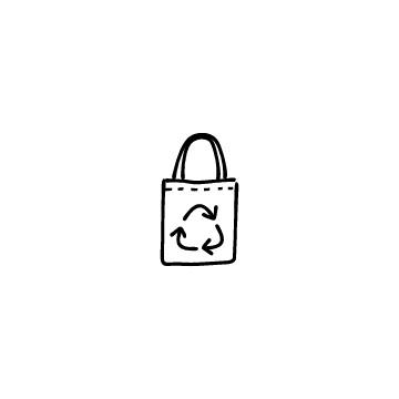 エコバッグ(リサイクルマーク)のアイコン