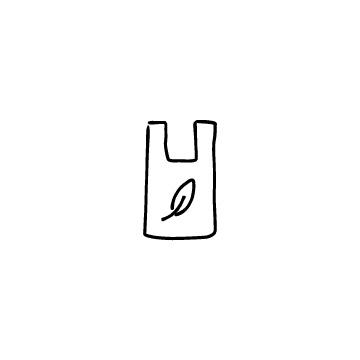 レジ袋(葉っぱ)のアイコン