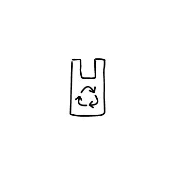 レジ袋(リサイクルマーク)のアイコン