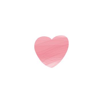 ピンク色のハートのアイコン