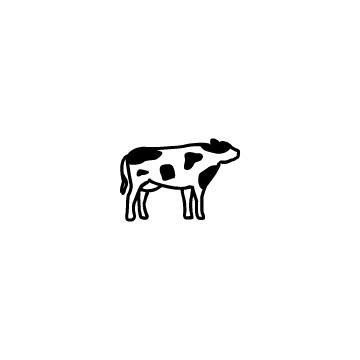 白黒の牛のアイコン