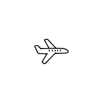 横向きの飛行機のアイコン