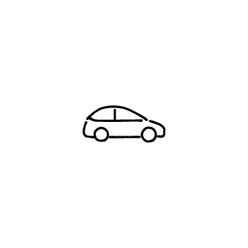 横向きの自動車のアイコン
