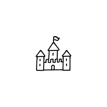 西洋のお城のアイコン