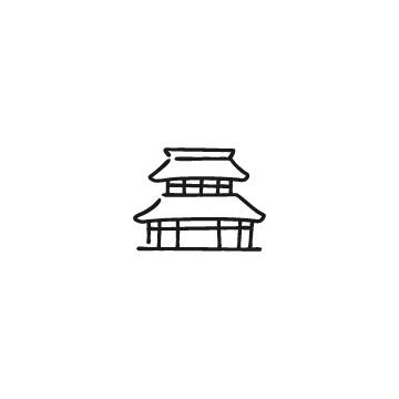 お寺のアイコン