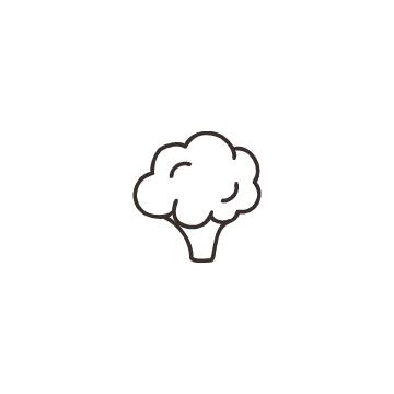 ブロッコリーのアイコンのアイキャッチ用画像