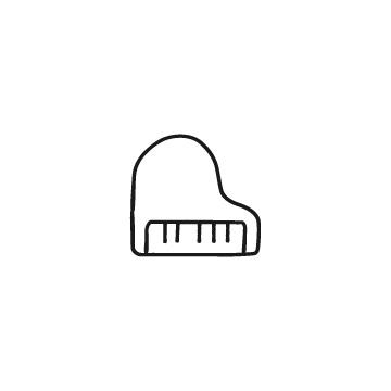 グランドピアノのアイコン