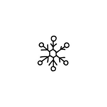 雪の結晶のアイコン1