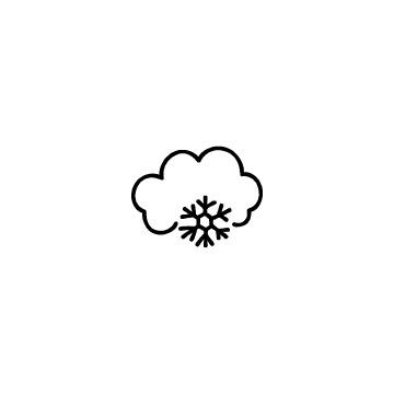 雲と雪の結晶のアイコン