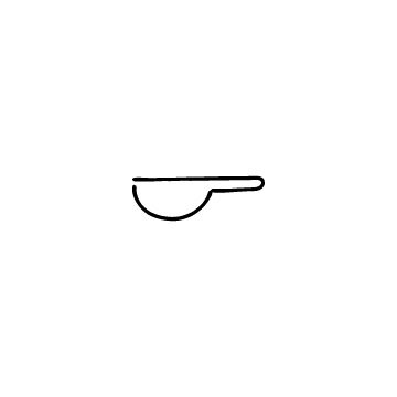 横向きのスプーンのアイコン