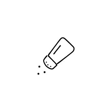塩をふりかけているアイコン