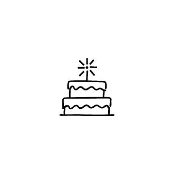 2段のバースデーケーキのアイコンのアイキャッチ用画像