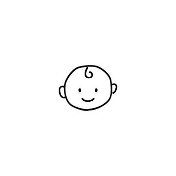 赤ちゃんの顔のアイコン