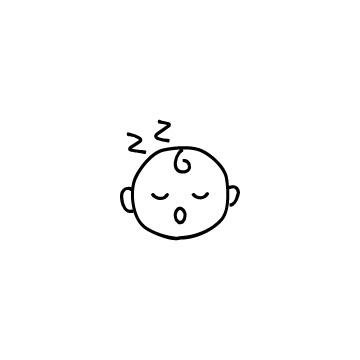 寝ている赤ちゃんの顔のアイコン