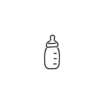 哺乳瓶のアイコンのアイキャッチ用画像