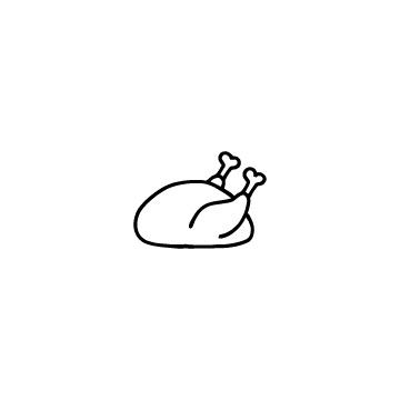 ローストチキンのアイコンのアイキャッチ用画像