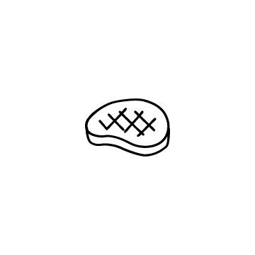 ステーキのアイコンのアイキャッチ用画像