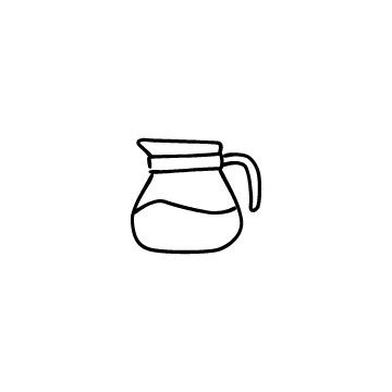 コーヒーサーバーのアイコンのアイキャッチ用画像