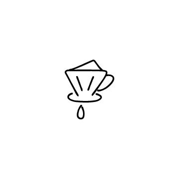 コーヒードリッパーのアイコンのアイキャッチ用画像