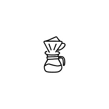 ドリップコーヒーのアイコンのアイキャッチ用画像