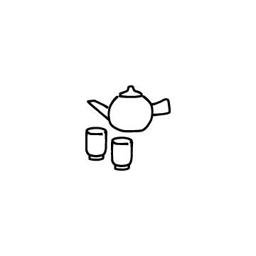 急須と湯のみのアイコンのアイキャッチ用画像