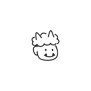 鬼の顔のアイコンのアイキャッチ用画像