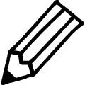 手書き風の黒い線で書いた鉛筆のイラスト、アイコン