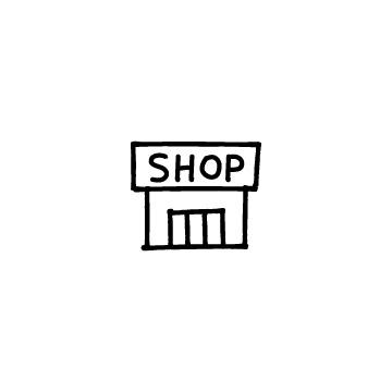 SHOPと書かれたお店、ショップのアイコン